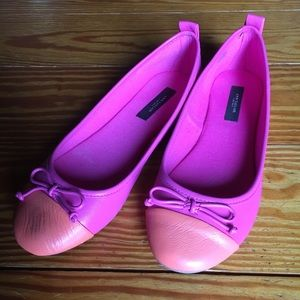 Pink and orange Ann Taylor flats